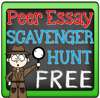 FREE Essay Writing Peer Editing Activity