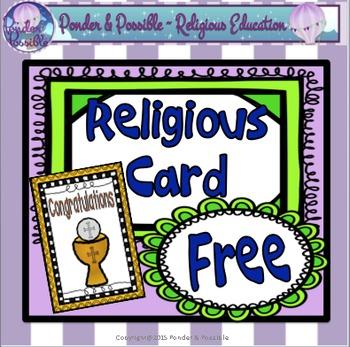 **FREE** Eucharist Religious Card