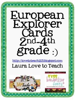 FREE European Explorer Printables