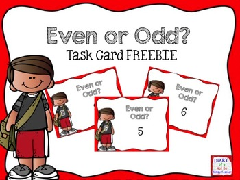 FREE Even or Odd? Task Cards