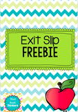 Exit Slip Freebie!