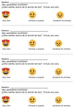 FREE Exit Slip en Español!