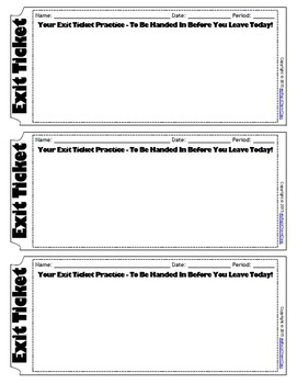 Versatile image throughout printable exit tickets