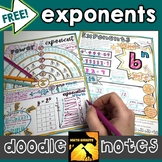 FREE Exponents Doodle Notes
