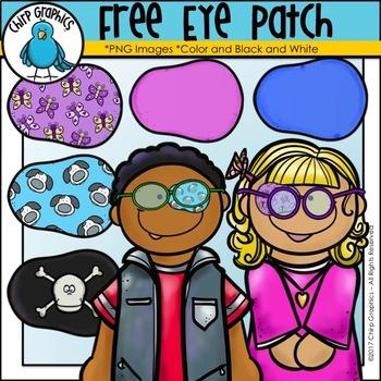 FREE Eye Patch Clip Art Set - Chirp Graphics