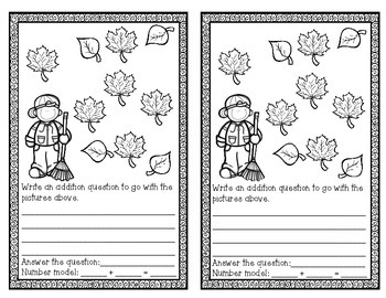 FREE FALL Addition Storybook Activity