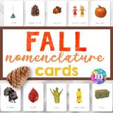FALL Montessori Nomenclature Cards for Montessori Primary