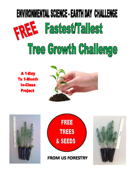 FREE . . . The  FASTEST/TALLEST TREE seedling GROWTH CHALLENGE