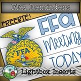 FREE FFA Reminders Lightbox Inserts