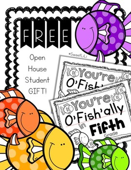 FREE FIFTH GRADE Student Gift