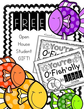 FREE FIRST GRADE Beginning of the year Student Gift