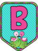FREE FLAMINGO PENNANT BANNER, BULLETIN BOARD LETTERS, PINK & TEAL