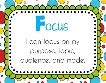 {FREE} FOCUS on 5 Writing Header Posters