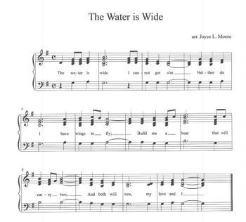 FREE FOLK SONG Easy Tone Chimes & Bells THE WATER IS WIDE