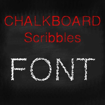 FREE FONT - Chalk Scribbles - personal classroom use