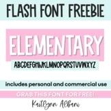 FREE FONT - Elementary | KA FONTS