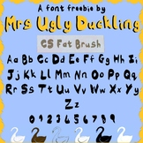 FREE FONT FOR PERSONAL OR COMMERCIAL USE CS FAT BRUSH