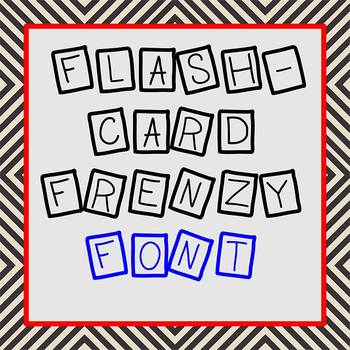 FREE FONT - Flashcard Frenzy - personal classroom use