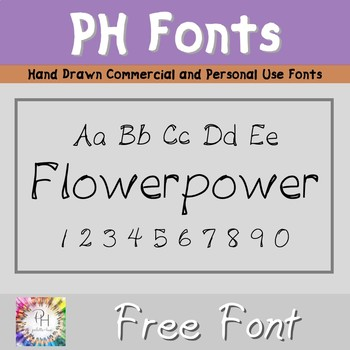 FREE FONT, FlowerPower, hand drawn for personal and commercial use!