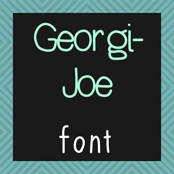 FREE FONT - Georgi Joe - personal classroom use