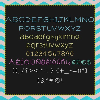 FREE FONT - It's All Good - personal classroom use