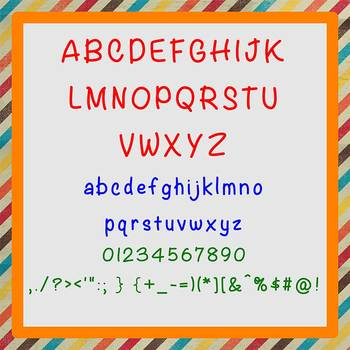 FREE FONT - Scoobs - personal classroom use