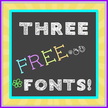 FREE FONT Three Pack - Chalkboard, Handwritten - personal,