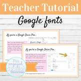 FREE FONT: Using Google Fonts Teacher Tutorial