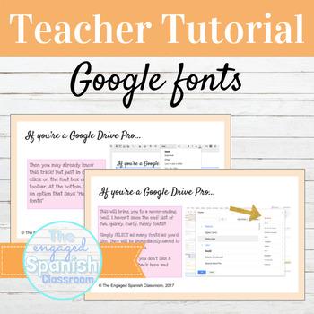 FREE FONT: Using Google Fonts Teacher Tutorial