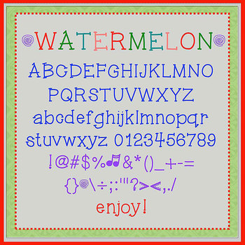 FREE FONT - Watermelon - personal classroom use