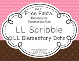 FREE FONTS {For Commercial Use!} LL Scribbles and LL Elementary Dots