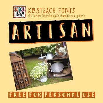 FREE FONTS:  KB3 Artisan (Personal Use: K26 Series)