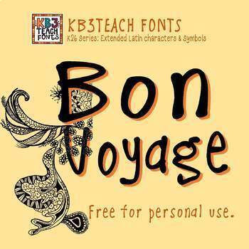 FREE FONTS:  KB3 Casual Friday (Personal Use: K26 Series)