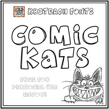 FREE FONTS:  KB3 Comic Kats (Personal Use: K26 Series)