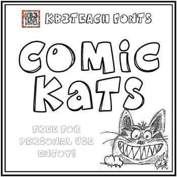 FREE FONTS:  KB3 Comic Kats (Personal Use: K26 Series)
