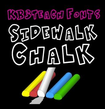 FREE FONTS:  KB3 Sidewalk Chalk (Personal Use: K26 Series)
