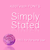 FREE FONTS:  KB3 Simply Stated (Personal Use)
