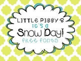 FREE FONTS - Little Piggy's It's a Snow Day!