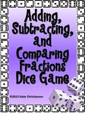 Fractions Adding and Subtracting Dice Games