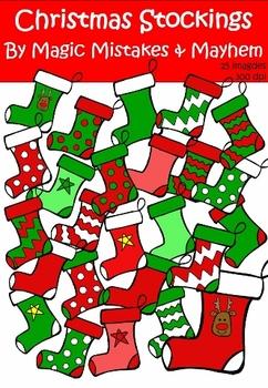 Christmas Clip Art- Christmas Stockings