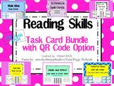 Reading Skills Task Card Bundle with QR Codes- 104 Task Cards