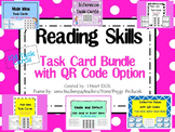 Reading Skills Task Card Bundle with QR Codes- 104 Task Cards