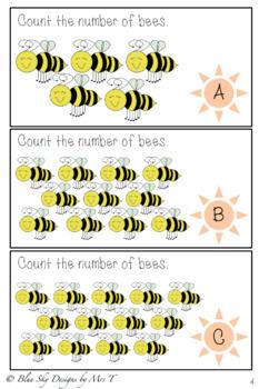 Bee Maths Task Cards 1-30