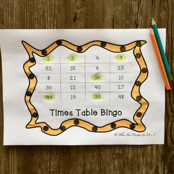 Times Table Lotto