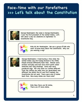 Constitution Day & September 11th Readers Theaters