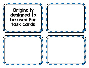 FREE FRAMES- PERFECT FOR TASK CARDS!