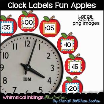 FREE FREE FREE Clock Labels- Apples