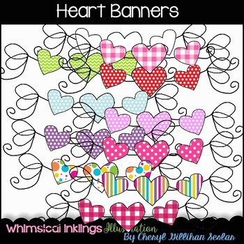 FREE FREE FREE Heart Banners