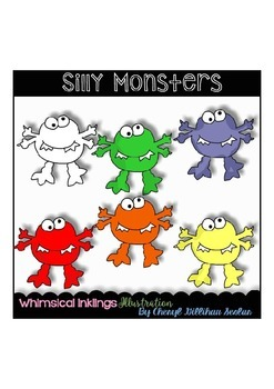 FREE FREE FREE SIlly Monsters Clipart