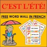 FREE FRENCH SUMMER VOCABULARY: WORD WALL (L'ÉTÉ)